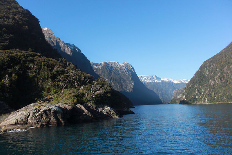 Travelling Milford Sound in winter
